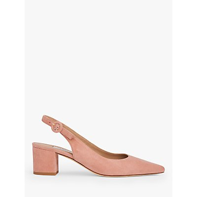 L.K.Bennett Ada Suede Court Shoes, Pink Clay
