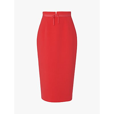 L.K.Bennett Rosamund Pencil Skirt, Geranium