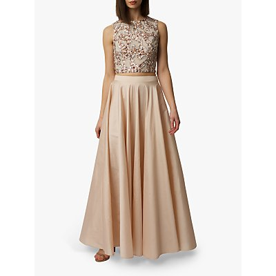 Raishma Taffeta Maxi Skirt, Blush
