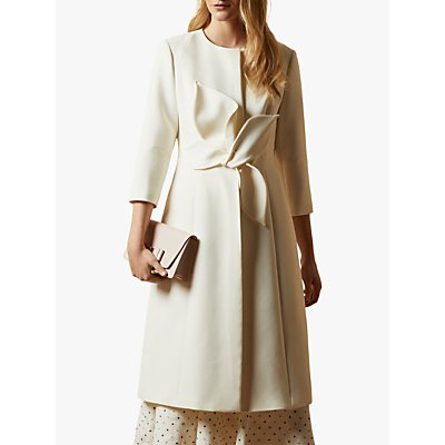 Ted Baker Orinan Tailored Dress Coat, Ivory