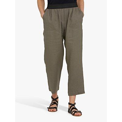 Helen McAlinden Vanessa Linen Cropped Trousers