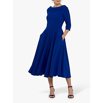Helen McAlinden Marilyn Midi Dress, Blue