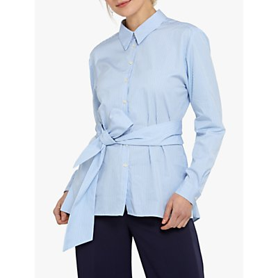 Helen McAlinden Siobhan Stripe Shirt, White/Blue