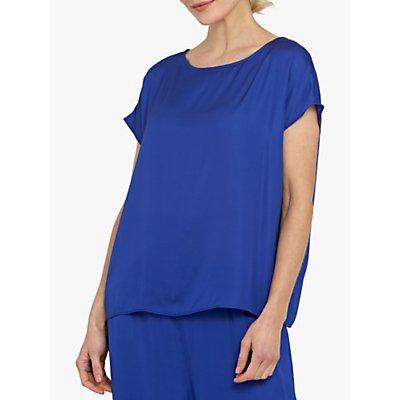 Helen McAlinden Lucy Satin Blouse, Blue