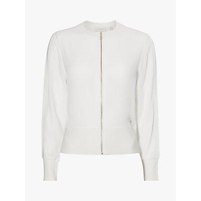 Ted Baker Jehney Ribbed Jacket, White