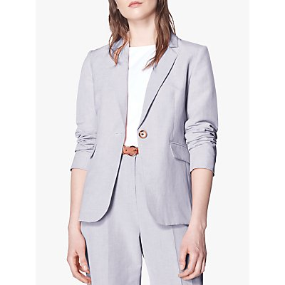 L.K. Bennett Sweetpea Linen Blend Jacket, Lilac