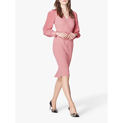 L.K.Bennett Charlotte Midi Dress, Bardon Pink