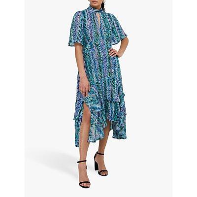 Monsoon Aaliyah Floral Midi Dress, Blue