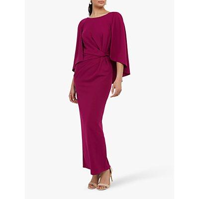 Monsoon Cara Cape Maxi Dress, Pink