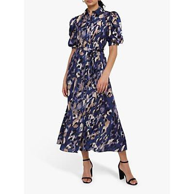 Monsoon Libby Animal Print Shirt Dress, Multi
