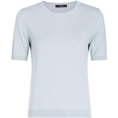 Weekend MaxMara Cardato Short Sleeve Top, Aquamarine