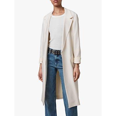 AllSaints Aleida Duster Coat, Ivory White