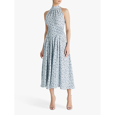 Fenn Wright Manson Amanda Holden Collection Mandy Ditsy Print Midi Dress, Mint