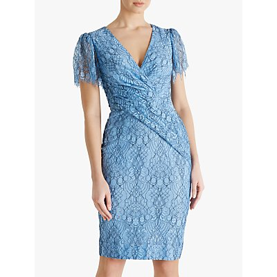 Fenn Wright Manson Amanda Holden Collection Kate Floral Dress, Pale Blue