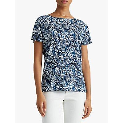 Lauren Ralph Lauren Lopkin Short Sleeve Top, Blue