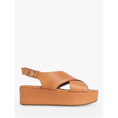 L.K.Bennett Sima Leather Flatform Sandals