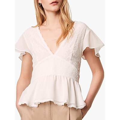 French Connection Bikita Lace Top, Summer White