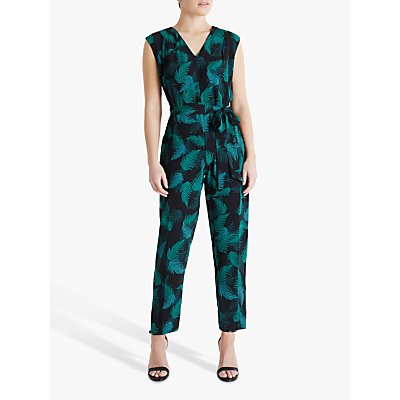 Fenn Wright Manson Petite Claudie Floral Jumpsuit, Jungle Palm