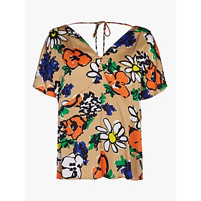 Finery Vienna Graphic Floral Print Top, Multi
