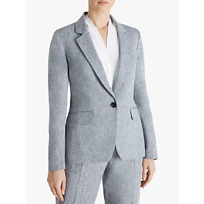 Fenn Wright Manson Marcelle Linen Jacket, Black/Ivory