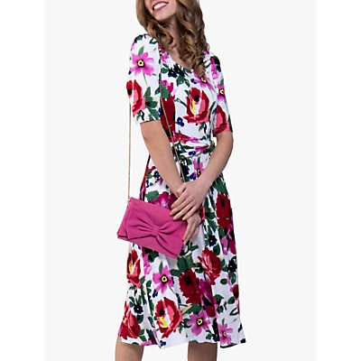 Jolie Moi Floral Tea Dress, Pink