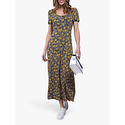 Jolie Moi Floral Print A-Line Maxi Dress, Yellow/Black