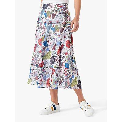 Brora Liberty Botanical Fern Print Chiffon Maxi Skirt, Multi