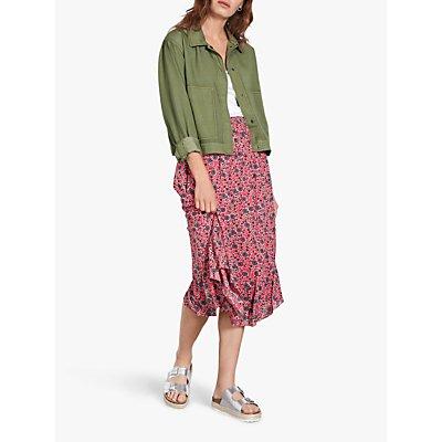 hush Rhonda Hanky Hem Midi Skirt, Pink