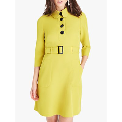 Damsel in a Dress Adie Button Detail Dress, Chartreuse