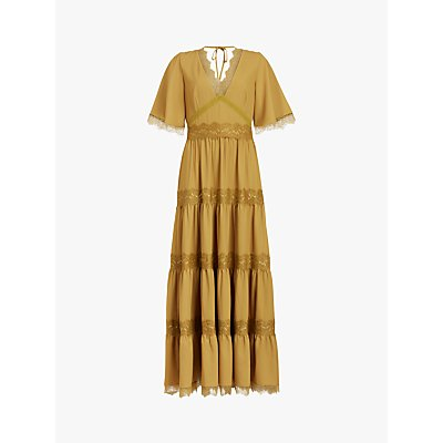 AllSaints Eris Frill Maxi Dress