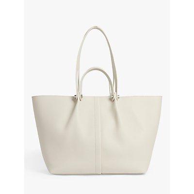 AllSaints Allington Leather Tote Bag, Chalk