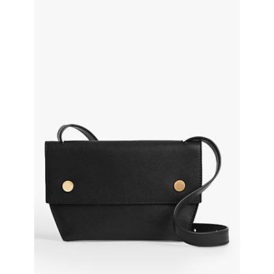 AllSaints Corbet Leather Cross Body Bum Bag, Black