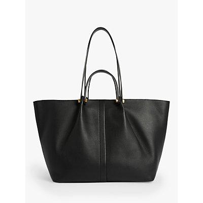 AllSaints Allington Leather East West Tote Bag, Black