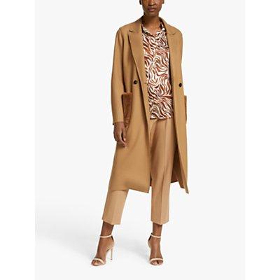 Marella Vignola Faux Fur Pocket Coat, Camel