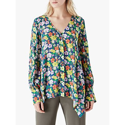 Finery Holland Floral Print Top, Multi