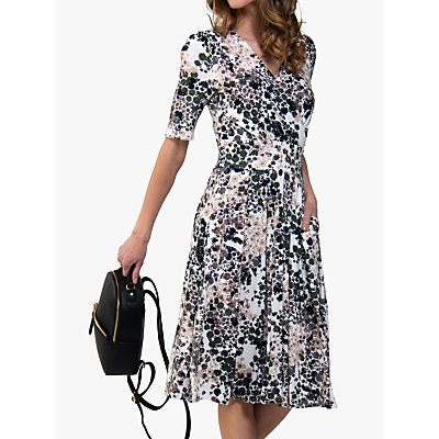 Jolie Moi Cross Midi Dress, Blush Floral