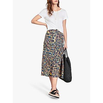 hush Artie Printed Midi Skirt