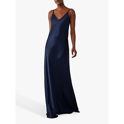 Ghost Verity Satin Slip Maxi Dress