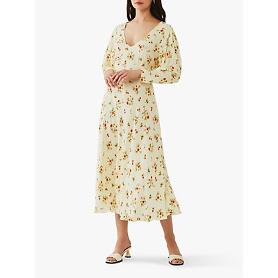 Ghost Clea Crepe Midi Dress, Summer Floral Bouquets