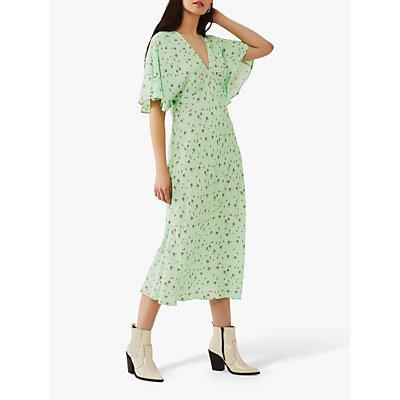Ghost Tessie Crepe Floral Midi Dress