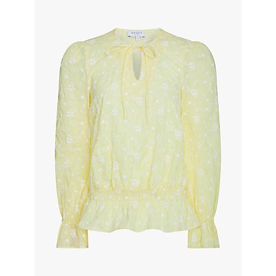Ghost Eliana Floral Print Blouse, Yellow