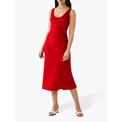 Ghost Palm Satin Slip Midi Dress