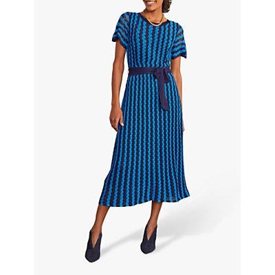 Boden Rowan Stripe Dress, Navy