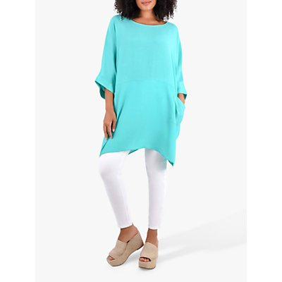 Live Unlimited Curve Cocoon Tunic Top, Jade