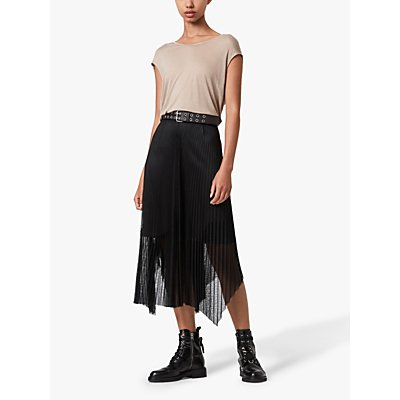 AllSaints Meya Maxi Skirt, Black