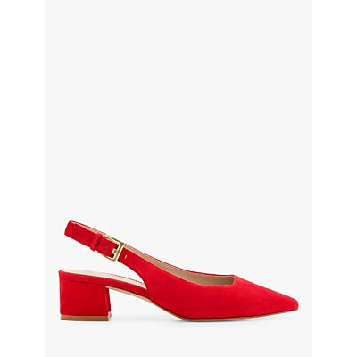 Boden Nadine Slingback Block Heel Suede Court Shoes