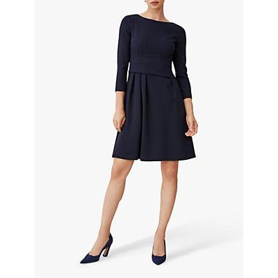 The Fold Camelot Twill Dress, Navy