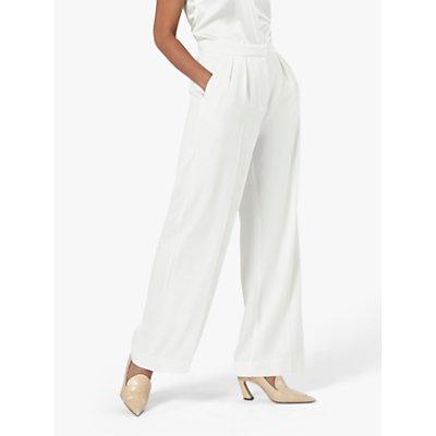 The Fold Almeida Trousers, Ivory Crepe