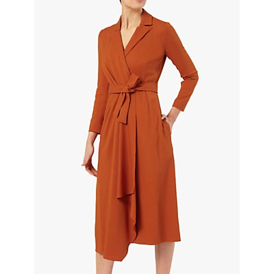 The Fold Avignon Wrap Dress, Terracotta