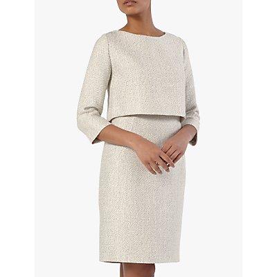 The Fold Northcote Tweed Dress, White
